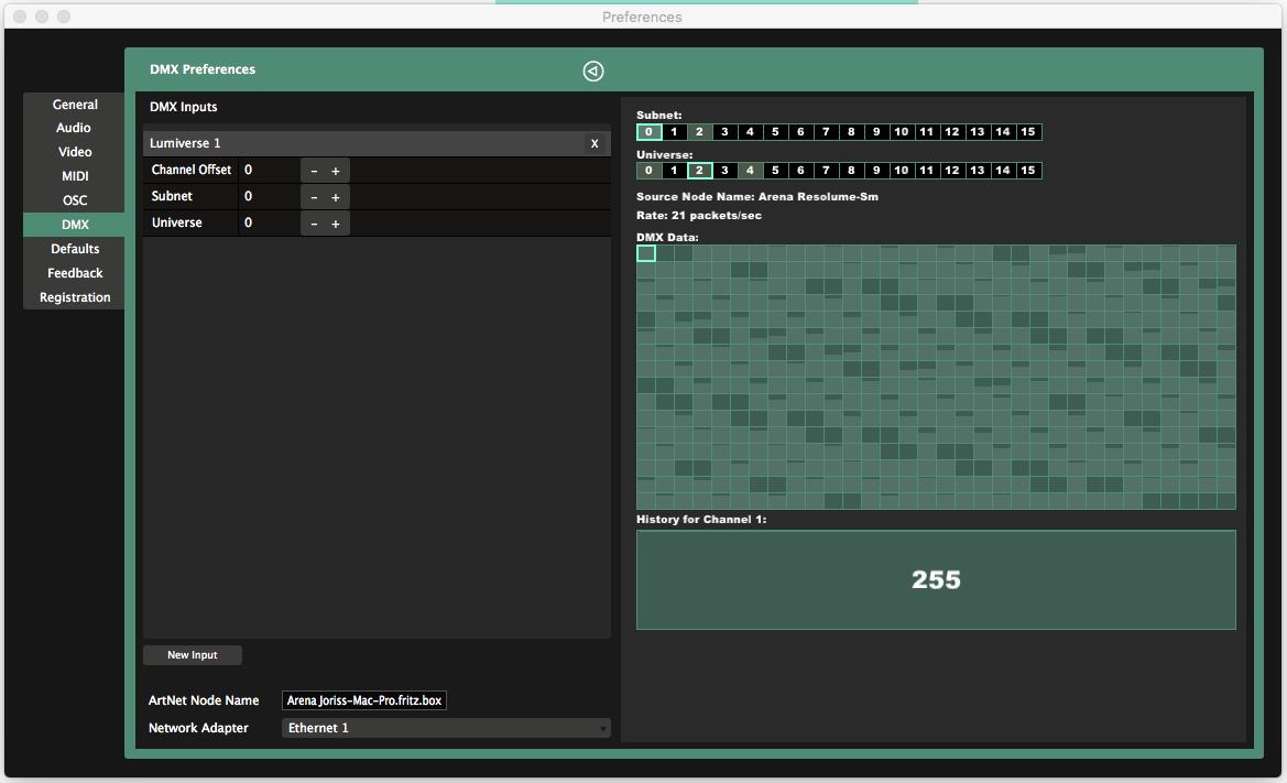 DMX Shortcuts - Resolume VJ Software