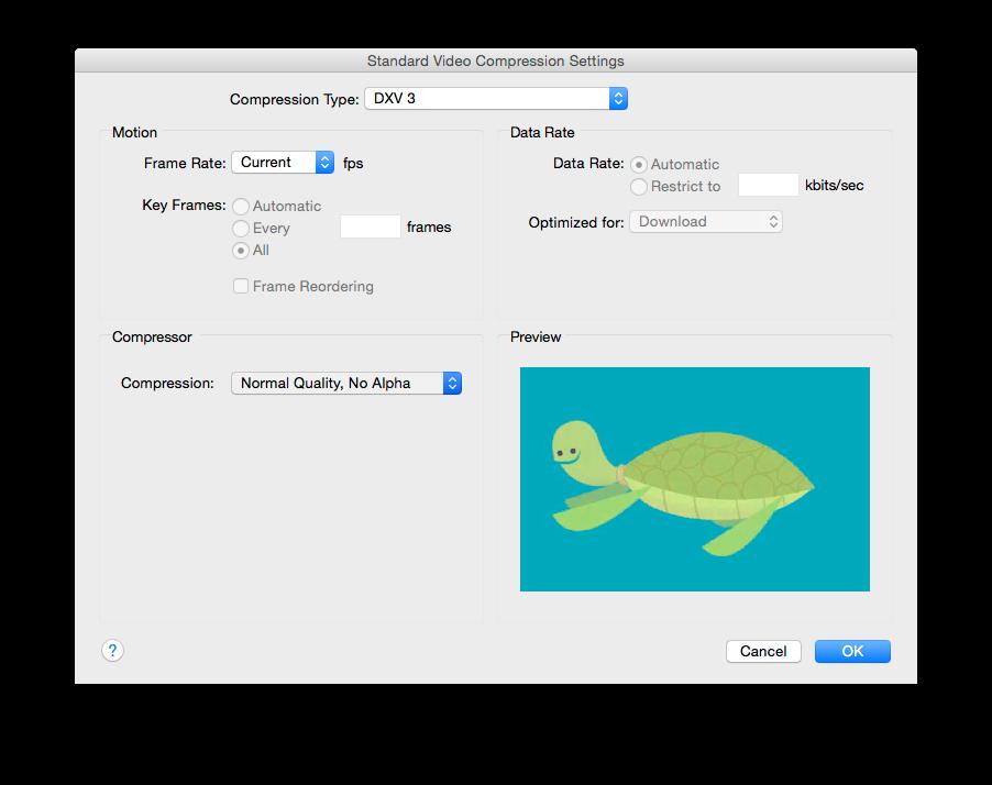 Rendering to DXV - Resolume VJ Software