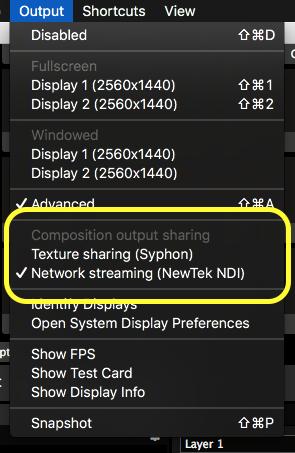 Syphon, Spout and NDI - Resolume VJ Software